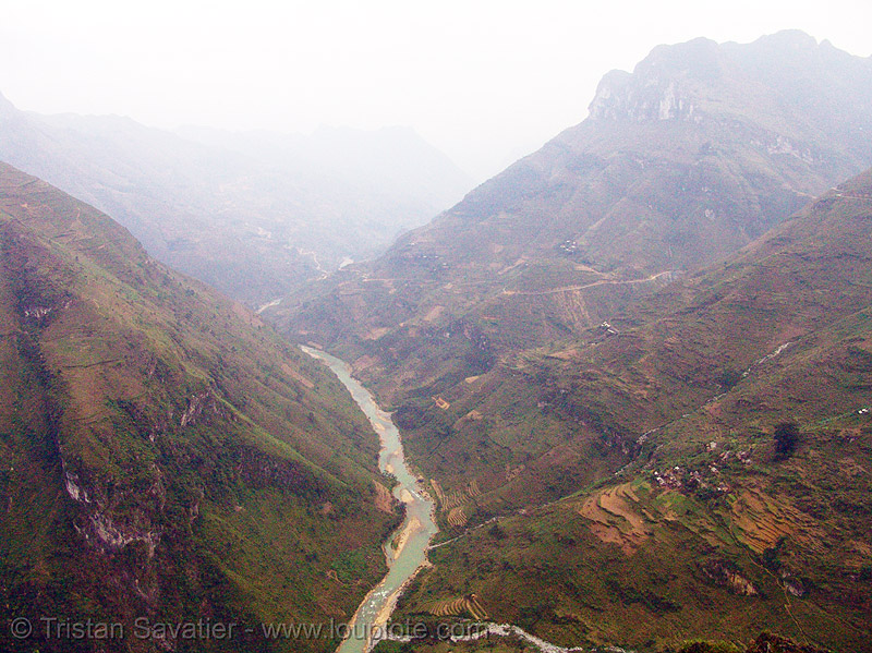 the nho quế river valley - vietnam, nho que river, nho quế river, v-shaped valley, vietnam