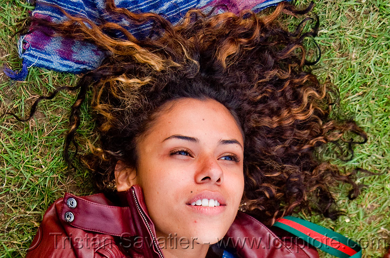 nicol cruz - young woman from nicaragua, bluegrass, golden gate park, grass, hardly, lawn, nicol cruz, nicolette, passion, strictly, woman