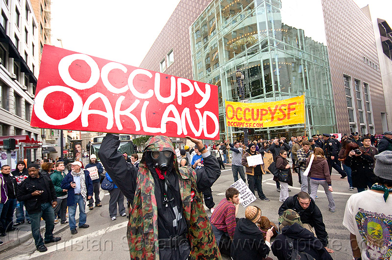 occupy oakland - occupy SF, black friday, demonstration, demonstrators, occupy, ows, protest, protesters, sign, street, union square