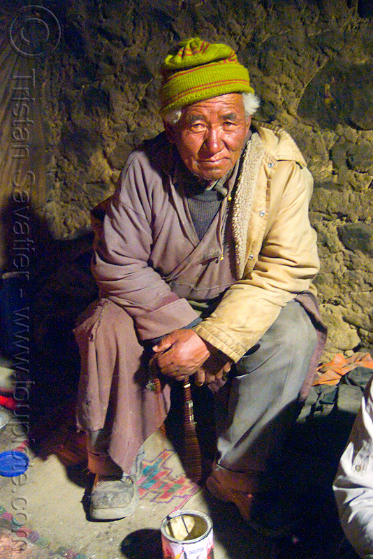 old farmer in his house - pangong lake - ladakh (india), farmer, india, ladakh, old man, pan, spangmik