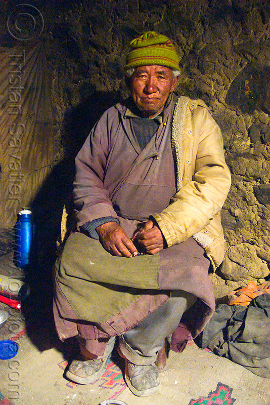 old farmer in his house - pangong lake - ladakh (india), farmer, ladakh, old man, pan, spangmik