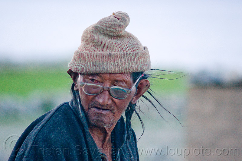 old farmer - pangong lake - ladakh (india), eyeglasses, eyewear, farmer, india, ladakh, old man, prescription glasses, spangmik, spectacles