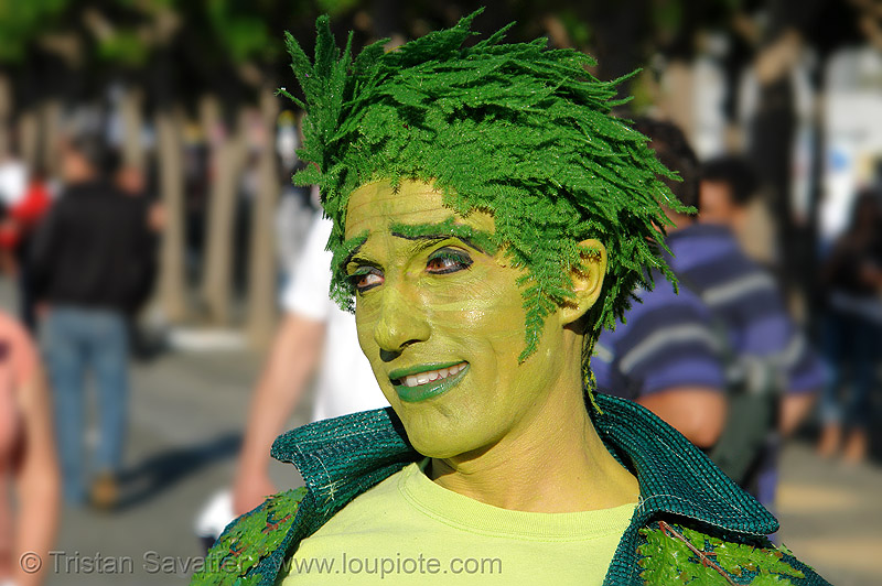 old gregg costume - green man, ferns, gay pride festival, green man, old greg, old gregg, parker, sf gay pride