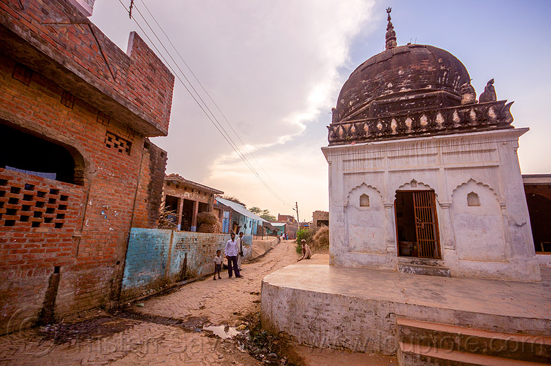 old hindu shrine in indian village, hinduism, khoaja phool, monument, people, street, temple, खोअजा फूल