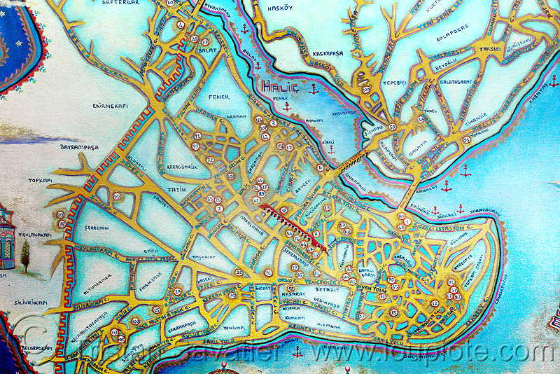 old map of istanbul, istanbul, old map, sultanahmet, turquoise color