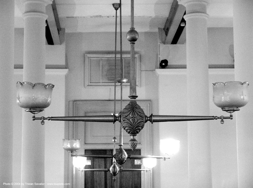 gas lights - sf-old-mint, ceiling lights, lighting fixtures, san francisco old mint
