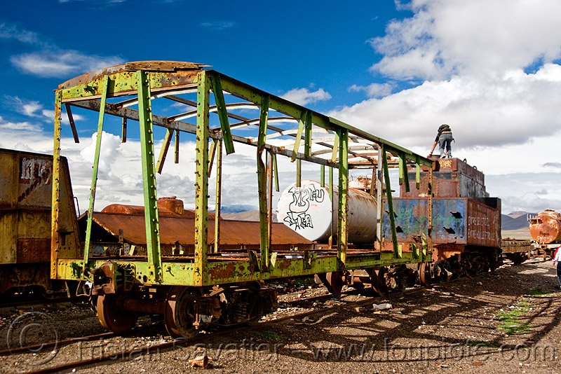 old train cars - train cemetery - uyuni (bolivia), bolivia, enfe, fca, railroad, railway, rusty, scrapyard, train car, train cemetery, train graveyard, train junkyard, uyuni