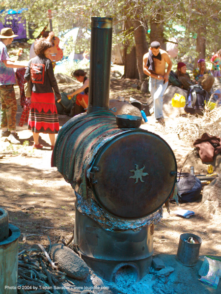 oven - stove - rainbow gathering - hippie, communal kitchen, rainbow family