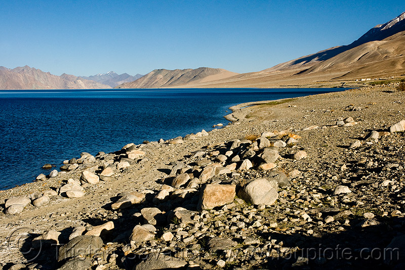 pangong lake - shore - ladakh, india, ladakh, pangong lake, pangong tso, rocks, spangmik