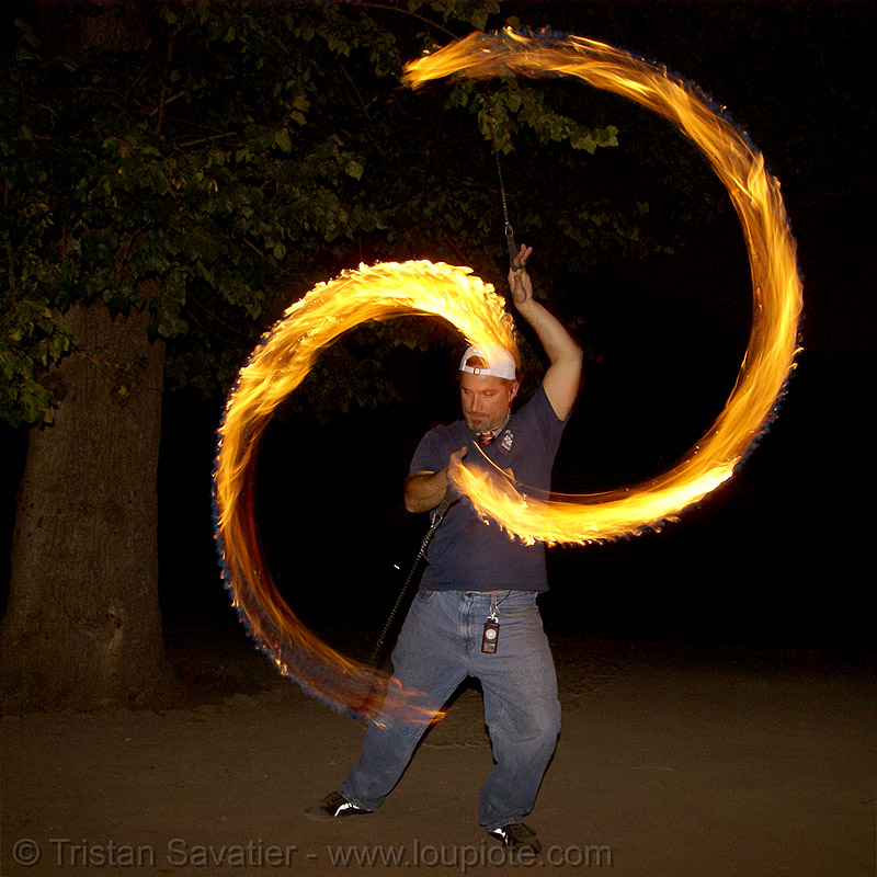 paramedic spinning fire poi (san francisco), fire dancer, fire dancing, fire performer, fire poi, fire spinning, night, paramedic, spinning fire