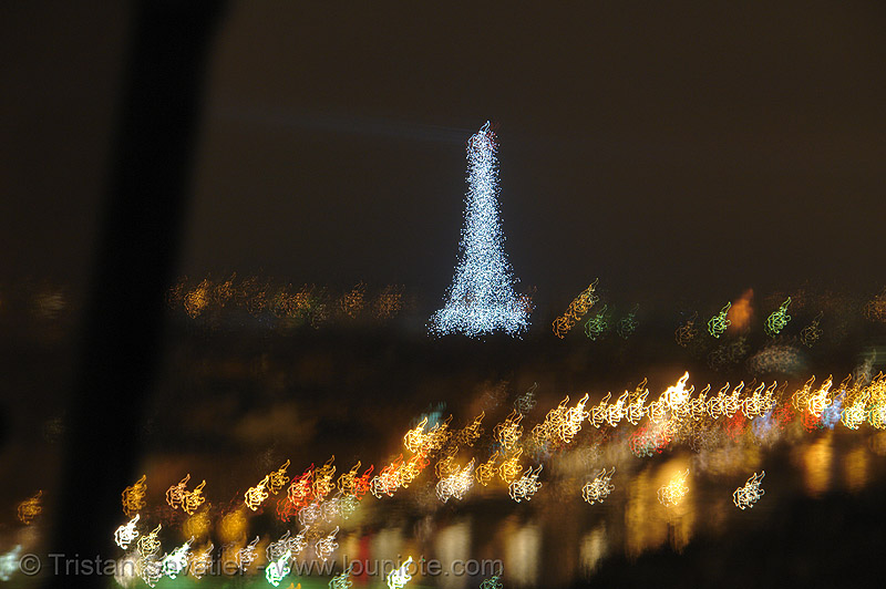 paris by night, abstract, eiffel tower, long exposure, motion blur, night, paris