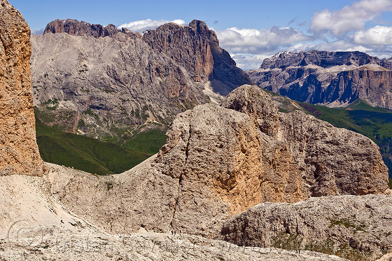 passo di lausa - dolomites - mountain landscape, alps, dolomites, dolomiti, hiking, mountaineering, mountains, passo di lausa, trekking, via ferrata