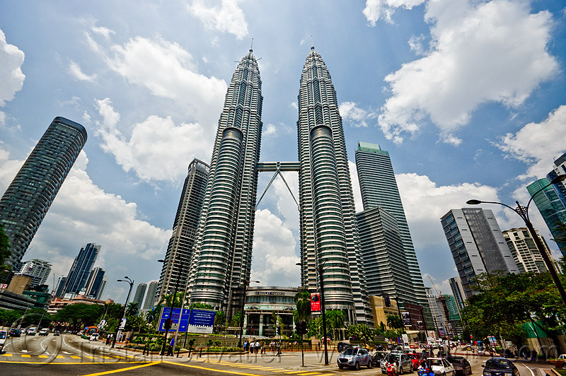 petronas towers (kuala lumpur), architecture, buildings, high-rise, skyscrapers, twin towers