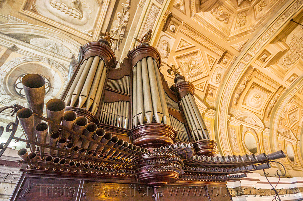 pipe organ - san augustin church - manila (philippines), architecture, ceiling, manila, philippines, pipe organ, san augustin church, trompe l'oeil