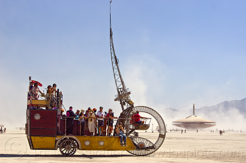 pirate ship - clock ship tere - burning man 2013, art car, c.s. tere, people, the lost machine