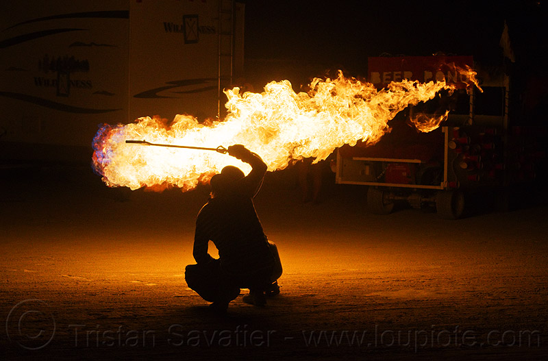 playing with fire, backlight, burning man, flames, gas fire, gas torch, natural gas, night, propane, silhouette