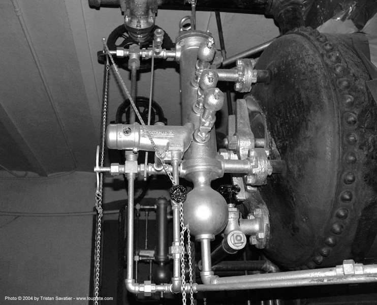 pressure valves on steam boiler, mint, old mint, san francisco old mint