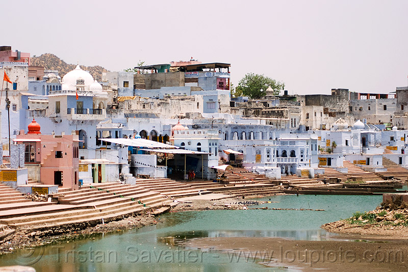 pushkar lake and ghats, ghats, pushkar lake, pushkar sarovar, water, पुष्कर-सरोवर