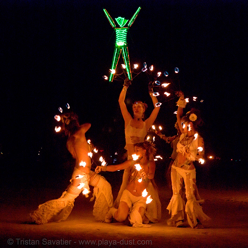 pyronauts of giza - fire conclave - burning man 2007, burning man, fire conclave, night of the burn, pyronauts of giza