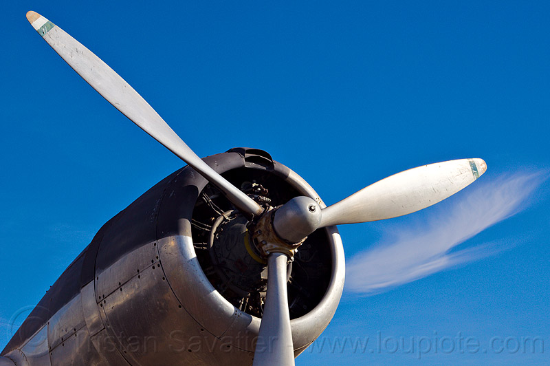 radial engine - propeller, aircraft, army museum, blue sky, castle air force base, castle air museum, douglas b-23 dragon, military, plane engine, propeller, r-2600-1, radial engine, war plane, wright
