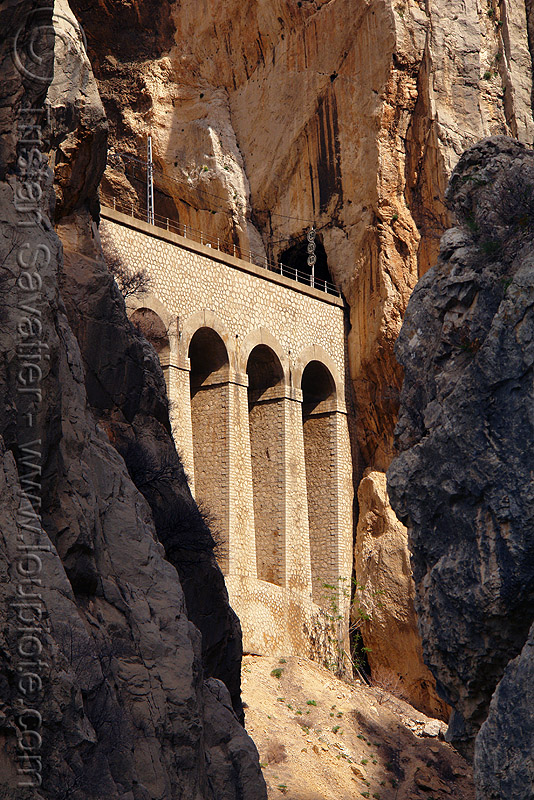 railroad viaduct, bridge, caminito del rey, camino del rey, canyon, cliffs, desfiladero de los gaitanes, el chorro, gorge, mountain, mountaineering, rail bridge, railroad bridge, railway