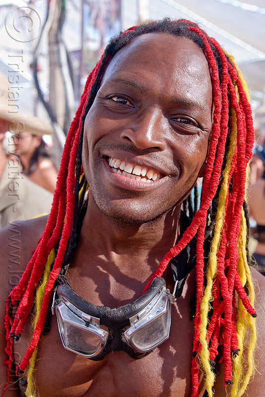 Red And Yellow Dreadlocks Damon Knight
