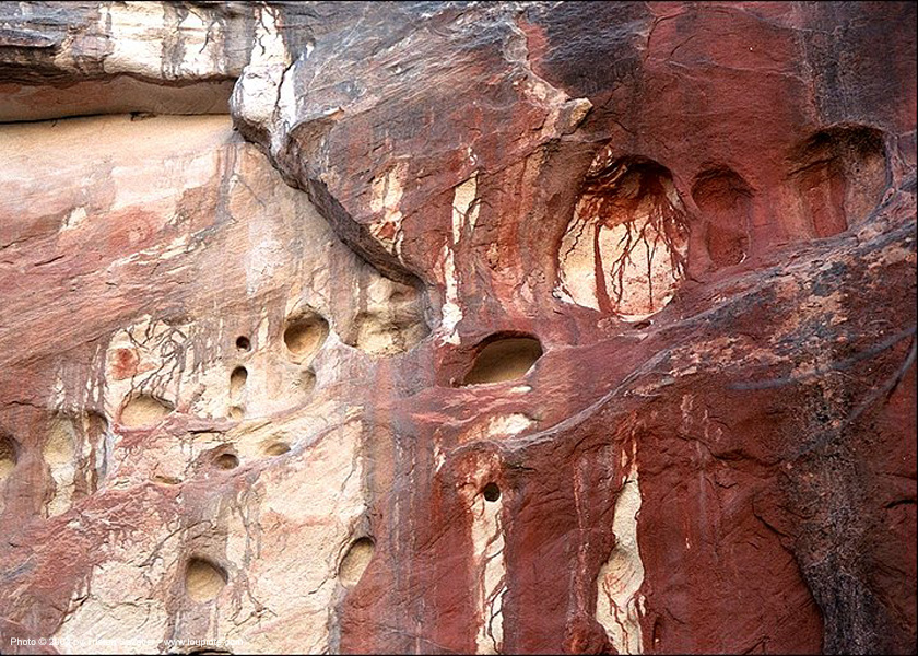 red-rock, erosion, limestone, red, rock wall
