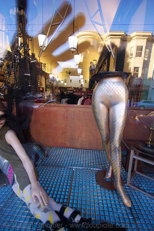 reflections (haight street, san francisco, california), haight street, mannequin, reflections, store dummies, store window
