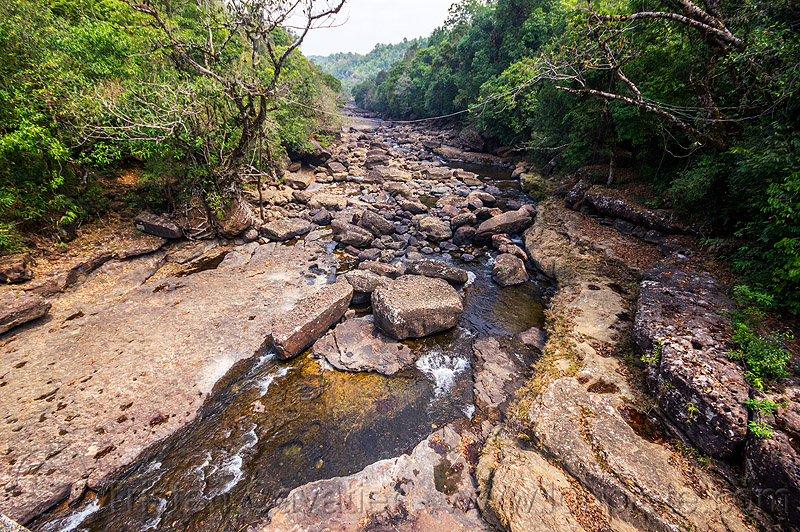 river bed in the east khasi hills (india), east khasi hills, mawlynnong, meghalaya, river bed, rock, water