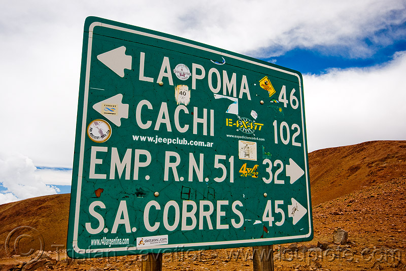 road sign - abra el acay - acay pass (argentina), mountain pass, noroeste argentino, traffic sign