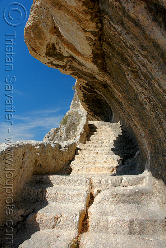 rock-cut stairs connecting the tombs of pontic kings (amasya), amaseia, amasya, archaeology, cliff, harşena, mountain, pontic kings, pontus, rock cut, rock tombs, vertical