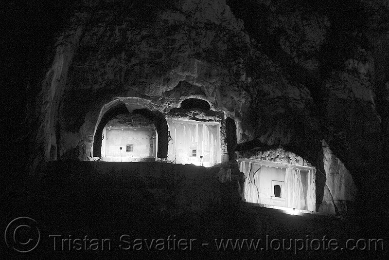 rock-cut tombs of the pontic kings (amasya), amaseia, amasya, archaeology, cliff, harşena, lighting, mountain, night, pontic kings, pontus, rock cut, rock tombs, vertical