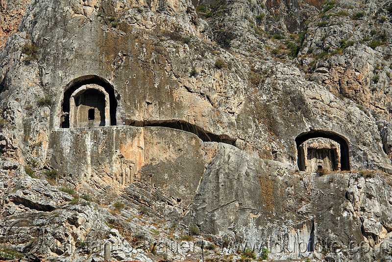 rock-tombs of the pontic kings (amasya), amaseia, archaeology, cliff, harşena, mountain, pontus, rock cut, rock tombs, vertical