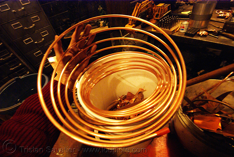 copper pipe, copper, flaming lotus girls, metal, spiral, tube