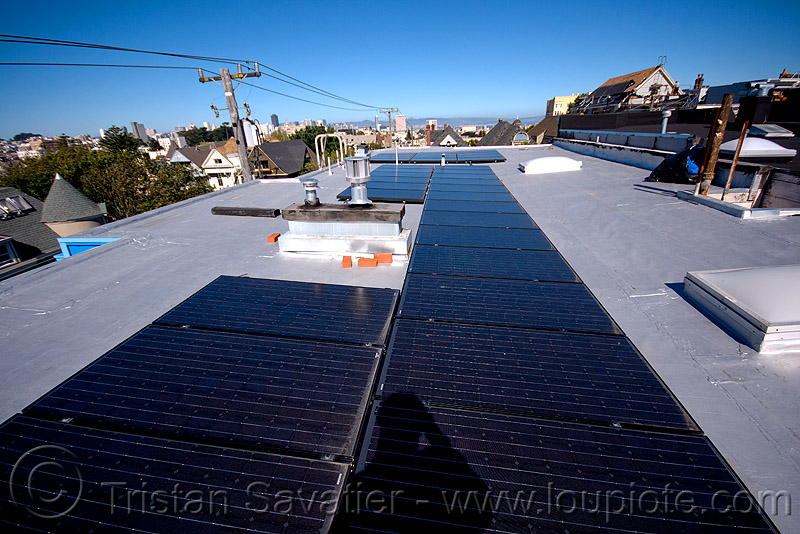 rooftop solar panels, electrical lines, electricity, photovoltaic array, power lines, rooftop, solar array, solar energy, solar panels