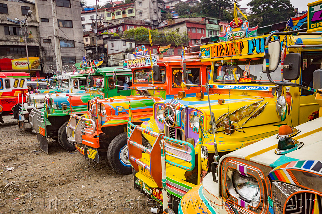 jeepney (philippines), baguio, decorated, jeepneys, painted, philippines, public transportation, truck