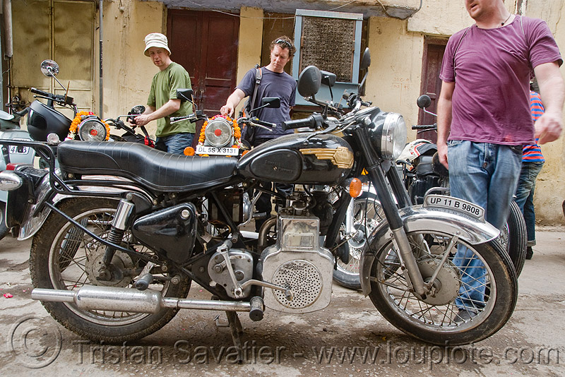 royal enfield taurus motorcycle with diesel engine, 325cc, bullet, diesel motorcycle, motorbike, people, street