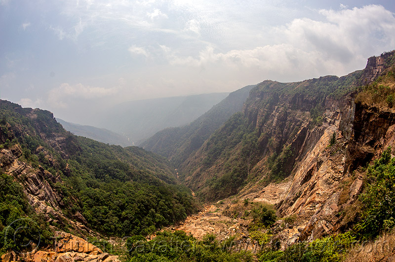 rugged valley in east khasi hills (india), cherrapunjee, cherrapunji, cliff, meghalaya, mountains, sohra