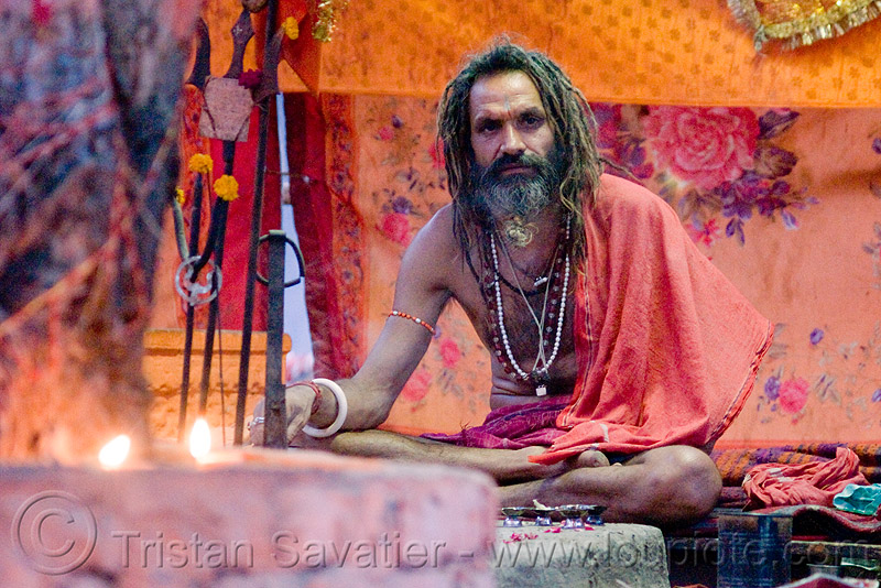 sadhu (hindu holy man) - pushkar (india), baba, beard, dreadlocks, dreads, hindu holy man, hinduism, old man, pushkar, sadhu