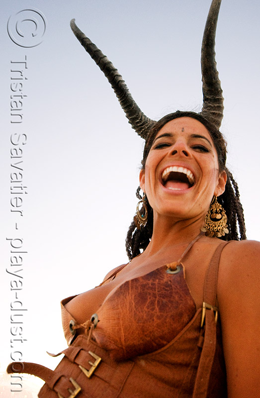 satyr, costume, horns, leather, luiza, satyr, woman