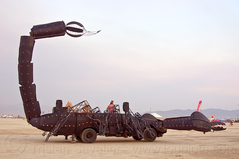 scorpion art car - burning man 2013