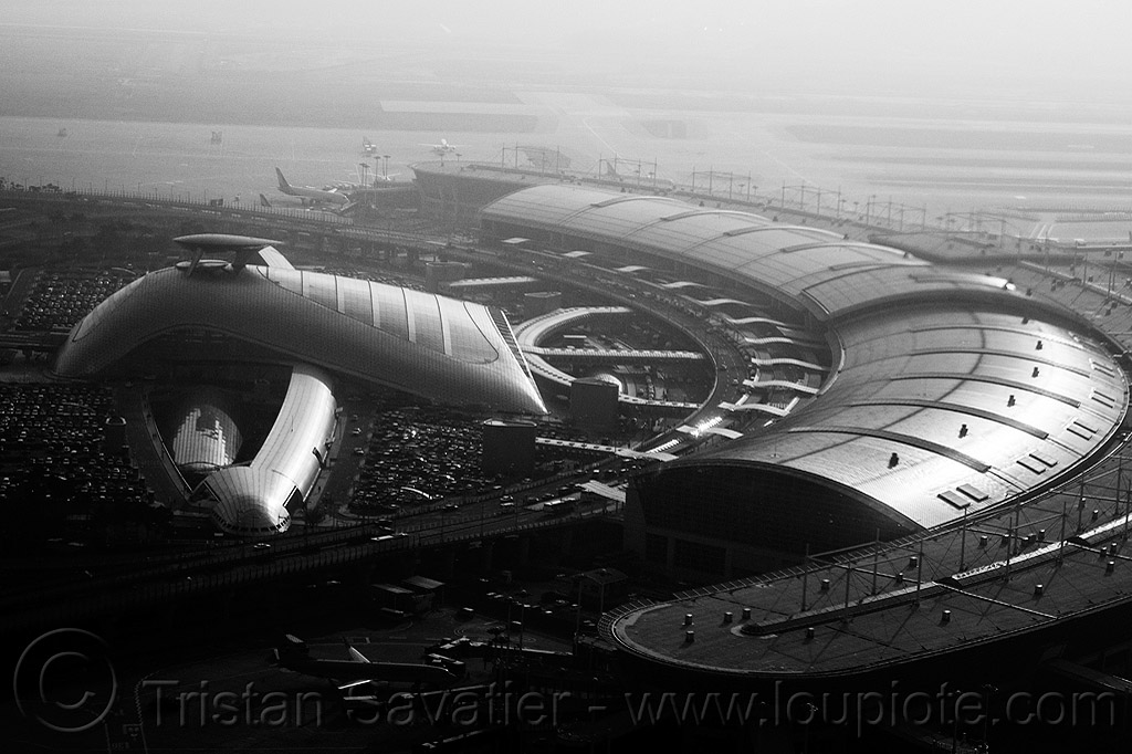 seoul incheon airport - aerial view, aerial photo, architecture, building, exterior, incheon airport, infrastructure, roof, seoul airport