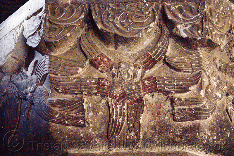 seraphim angels low-relief carving - oshki monastery (turkey), angels, byzantine, georgian church, low-relief, orthodox christian, oshki monastery, religion, seraph, seraphim angel, stone, öşk, öşkvank