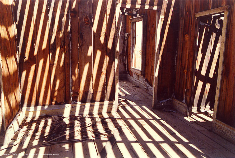 shadows in dilapidated gold miner cabin - gold point - death valley (california), cabin, death valley, trespassing