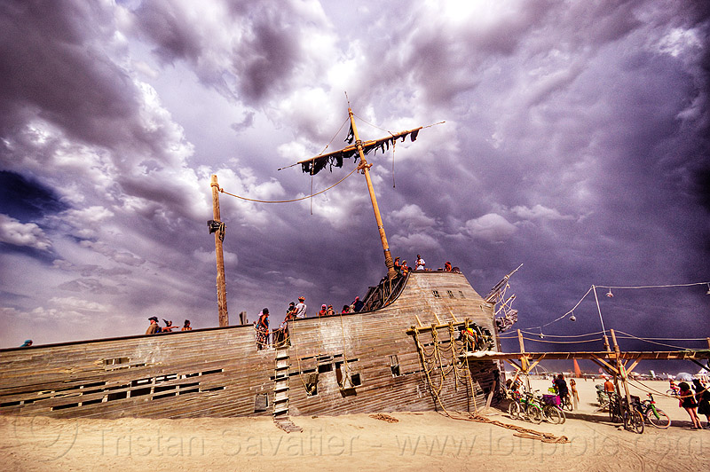 v2 - shipwreck in storm, burning man, clouds, la llorona, people, pier, pier 2, ship, stormy, stormy sky
