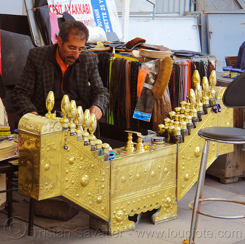 shoeshiner stand (turkey), man, shoeshiner stand, stall, street seller, street vendor