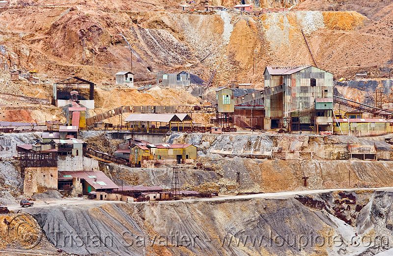 silver mines on the cerro rico - potosi (bolivia), industrial, mining