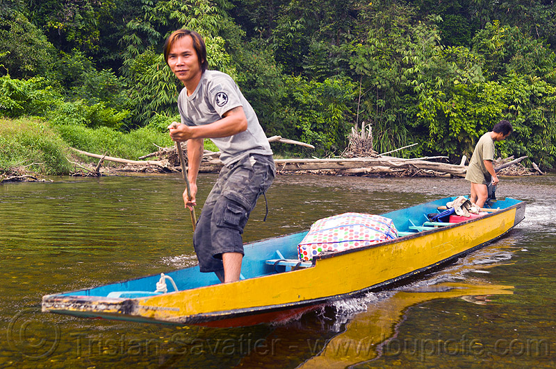 Gunung mulu national park, melinau, melinau river, men, people, sungai