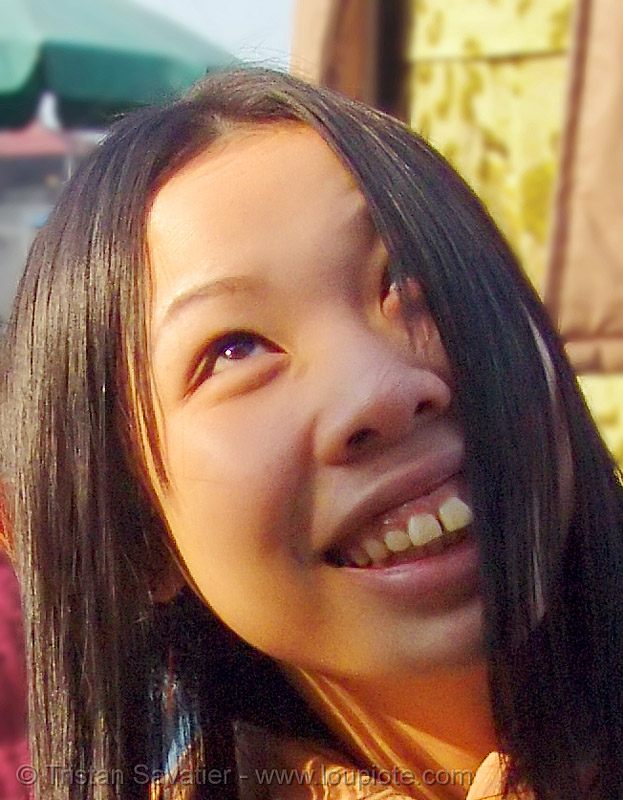 smiling girl with big teeth (vietnam), asian woman, asian women, lang sơn, teeth, vietnam