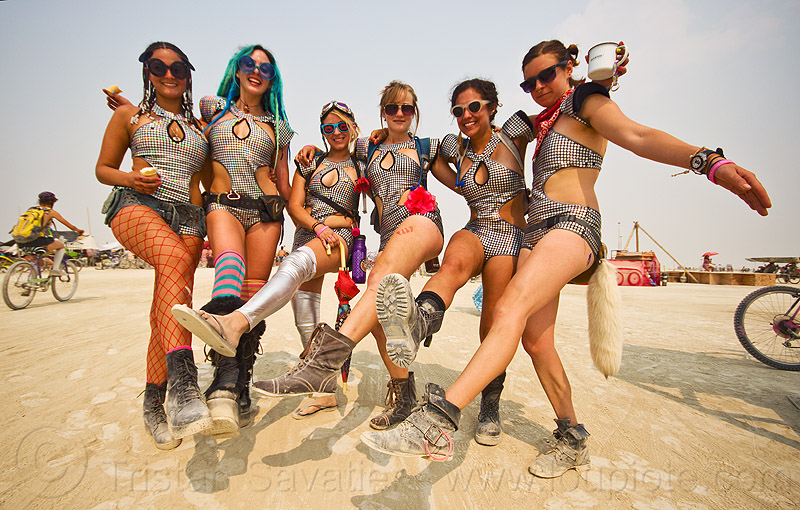 space kats - burning man 2013, costumes, leg up, legs, legs up, people ...